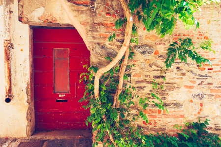 Old house facade, Provence, France Stock Photo