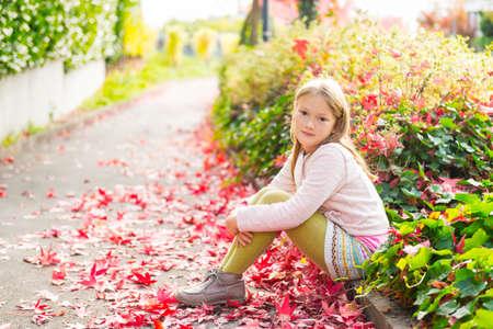 tights: Fashion portrait of a cute little girl