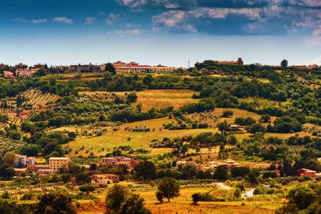 agriturismo: Beautiful landscape of Massa Marittima area, Province of Grosseto, Tuscany, Italy