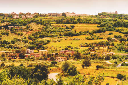 Beautiful landscape of Massa Marittima area, Province of Grosseto, Tuscany, Italy