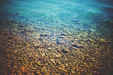river: Transparent water in lake Geneva, Switzerland