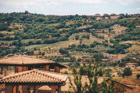 Beautiful landscape of Massa Marittima area, Province of Grosseto, Tuscany, Italy Stockfoto - 118985867