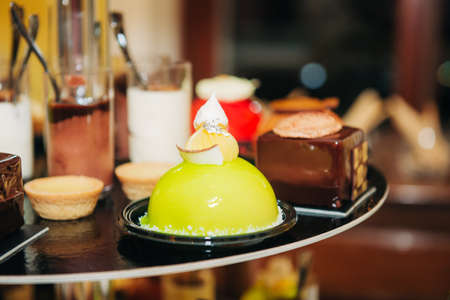 Sweet desserts food catering on wedding or festive party