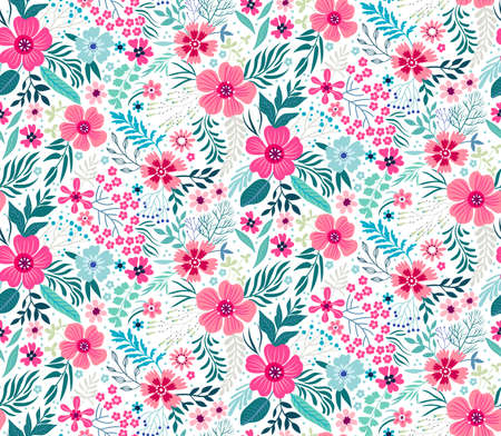 Cute Floral pattern. Stok Fotoğraf - 74614539