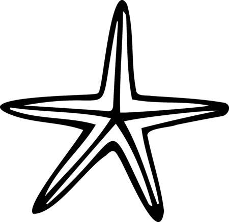 Vector element, doodle. Starfish Sea theme.