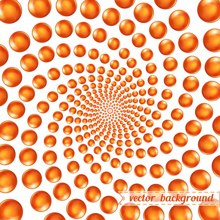 3d circular spiral of spheres background backdrop, vector graphic illustration Ilustrace