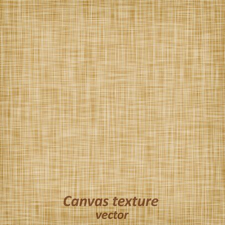 Burlap sack fabric canvas linen flax scrim cloth  textile material texture background, vector illustration