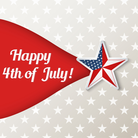 Happy Independence Day card, vector illustration