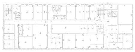 Architecture plan and blueprint monochrome background, vector illustration