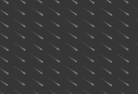Meteor shower seamless background, hand drawn cosmic rain pattern in modern dotwork style. Black and white monochrome texture. Vector pattern swatch included in the Swatches panel
