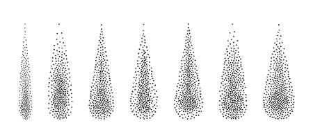 Halftone drops of water of dots. Vector illustration Иллюстрация