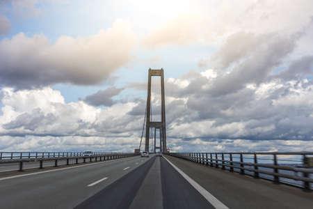 The Great Belt bridge. 18km-long suspension bridge linking eastern & western Denmark. Storebaeltsbroen, 4220 Korsor, Denmark