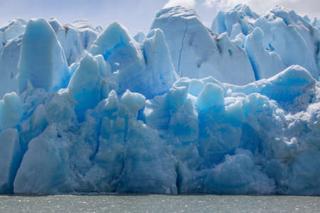 Closeup view of Grey Glacier icebergs, the National Park Torres del Paine, Patagonia, Chile.