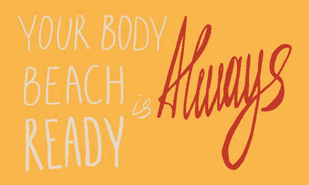 Concept with lettering For Fat acceptance movement no fatphobia. Vector phrase illustration