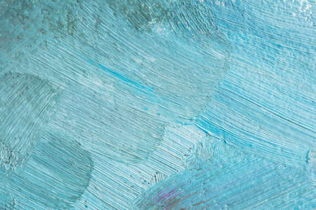 Blue background with oil paint. Beautiful brushstrokes close-up. Textured abstract background. Oil painting. Stok Fotoğraf