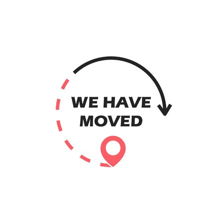 We have moved. Vector Stock fotó - 133544303