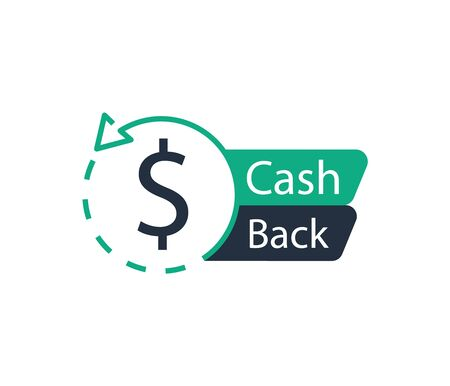 Cash back icon. Banner sign. Vector