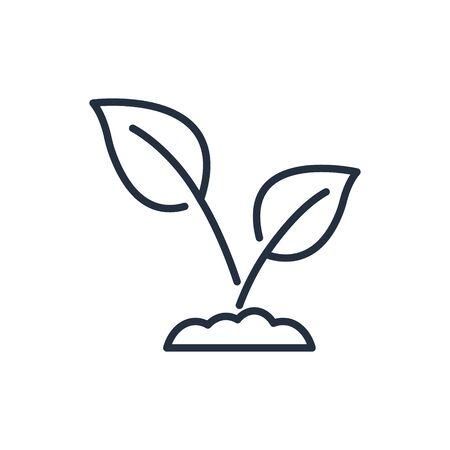 Seedling line icon. Plant symbol. Vector icon.
