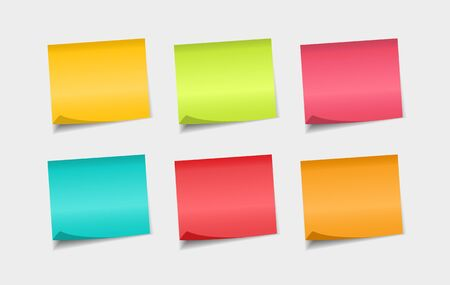 Set of colorfull sticky notes. Stickers notes paper. Notes to the message. Stock fotó - 133544504
