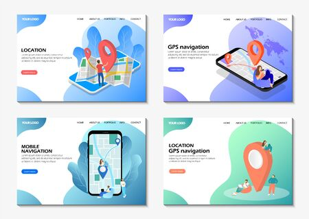 Startup landing pages, Mobile navigation, GPS navigation location