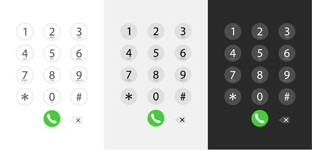 Dialing a number, Keyboard dialing - Interface