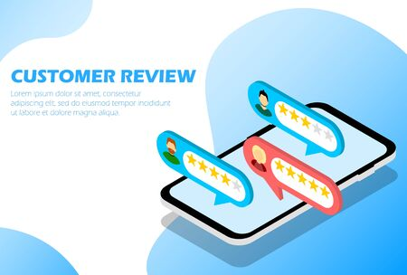 Customer Reviews, Infographics for web page