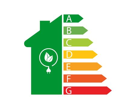 Energy efficiency and home improvement concept - Vector illustration. Illusztráció