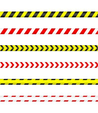 Caution tape, Police line and danger tape.