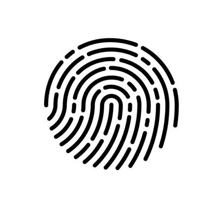 Huella digital, ilustración del icono de vector
