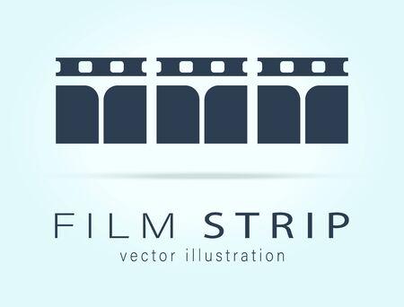 Film strip illustration - vector illustration Zdjęcie Seryjne - 134182596