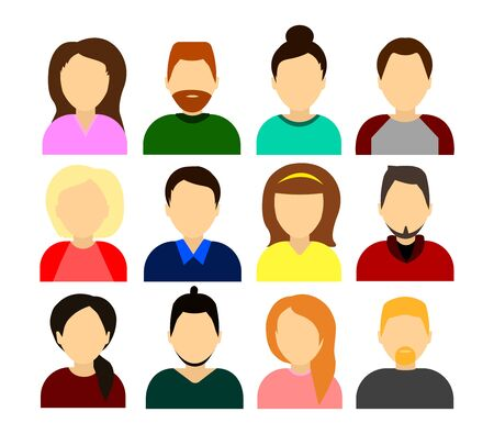 Set di icone di persone, uomo e donna - vector Vettoriali