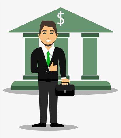 Bank employee, Banker Business man Financier Standard-Bild - 134183007