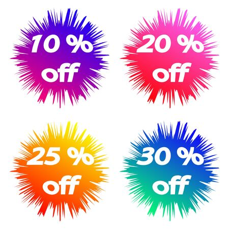 Sale discount icons, special offer price signs, Speech bubbles or chat symbols Vector Illustration