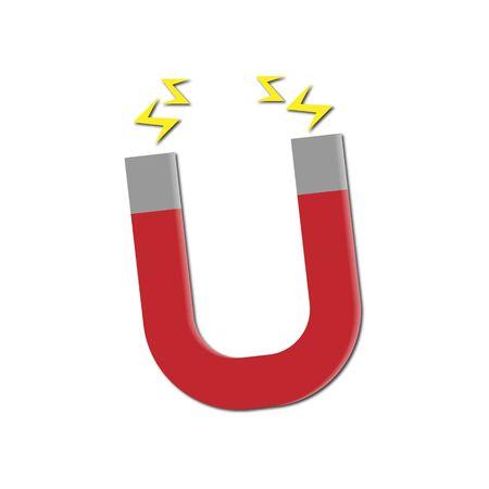 Magnet flat design icon concept - Vector icon