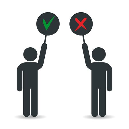 Yes and no, Accepted and not accepted - vector