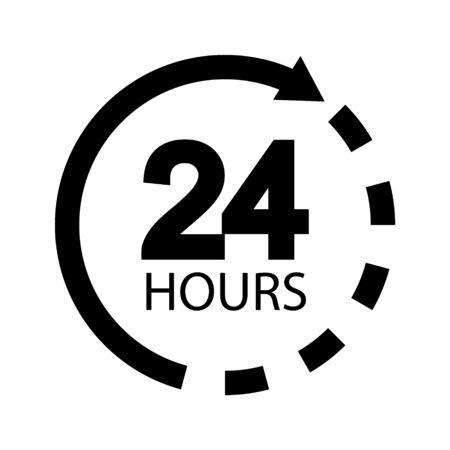 24 hours sign - Vector illustration