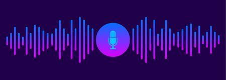 Personal assistant and voice recognition concept Ilustração