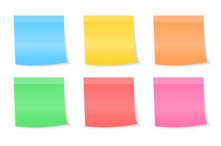 Notas de papel pegatinas, notas para el mensaje.