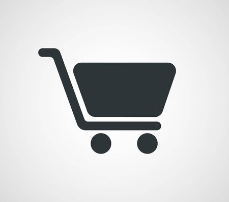 Shopping cart icon, Vector illustration Illustration