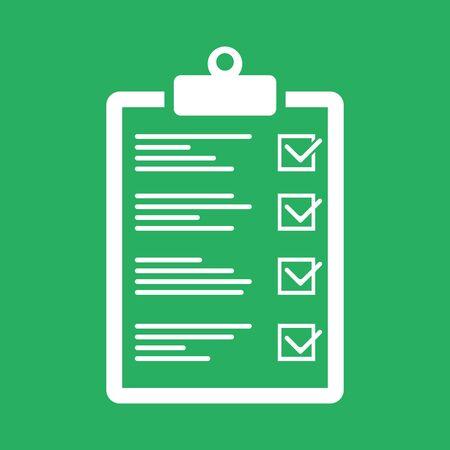 Checklist icon, Approved plan - vector illustration Ilustração