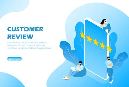 Customer review, feedback rating Isometric