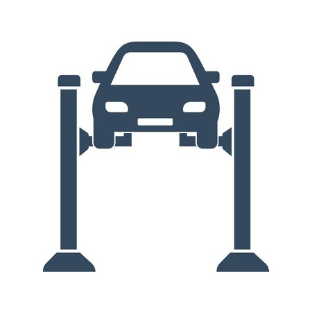 Car lift, Machine maintenance, Car repairs, Check the car 免版税图像 - 134267541
