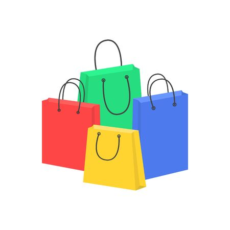 Collection of color shopping bags, Paper bags.