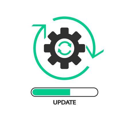 Update software icon, Upgrade, Application progress icon