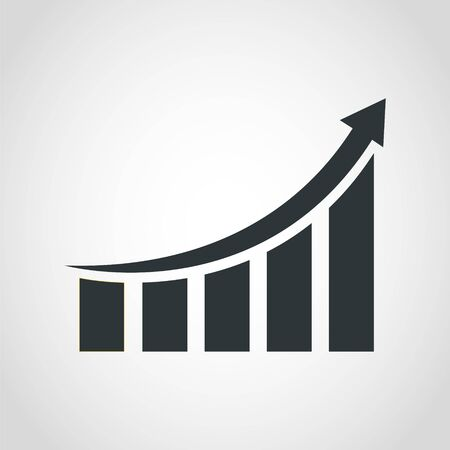Growing graph icon, Vector illustration