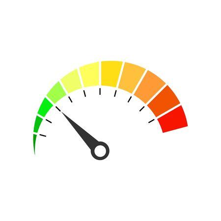 Icône de compteur de vitesse coloré - illustration vectorielle.