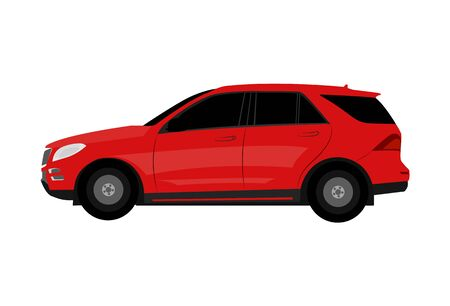 Car in flat style - vector illustration.