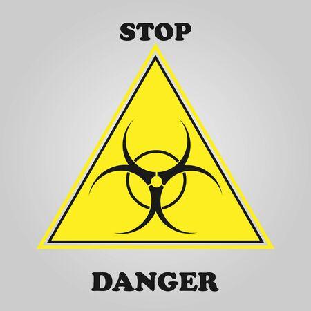 hazard, danger warning - icon vector