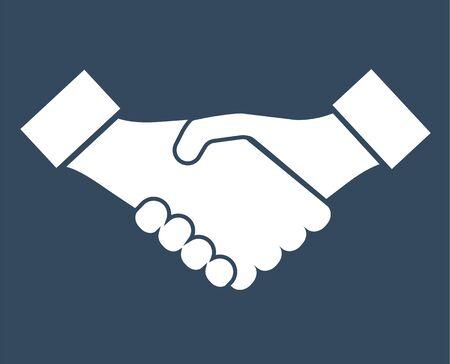 Handshake, partnership business icon - vector