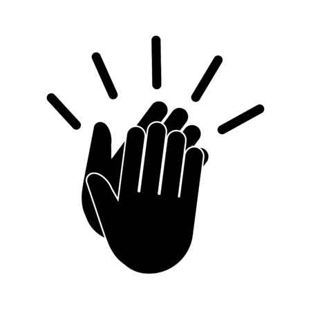 Clapping hands icon, Applause Vector illustration